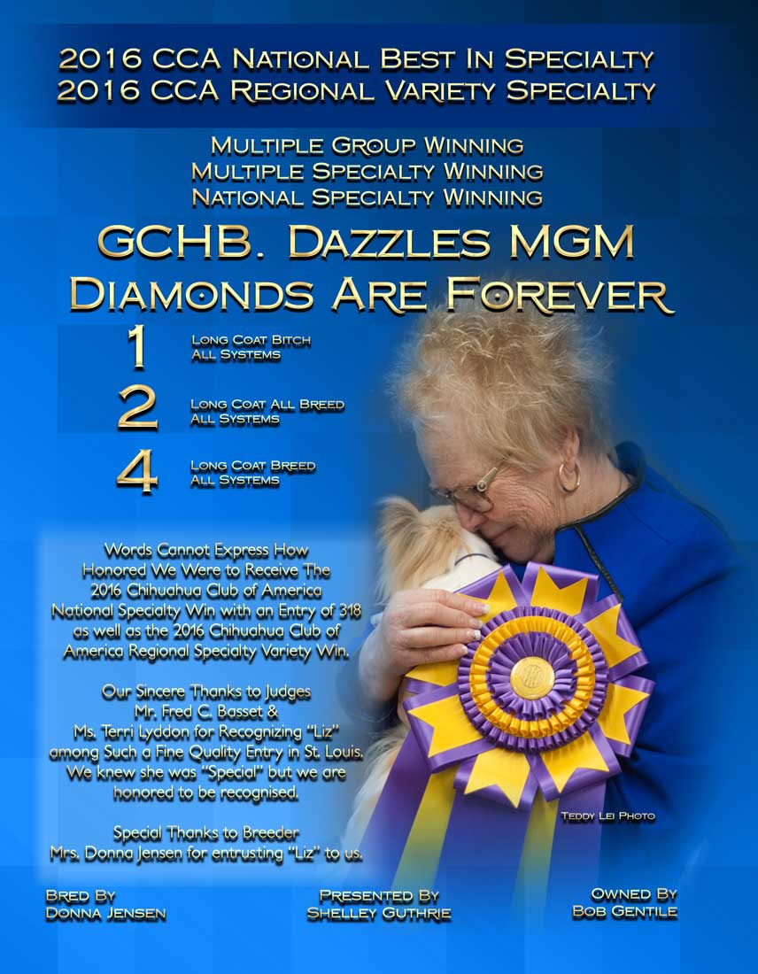GCHB Dazzles MGM Diamonds are Forever